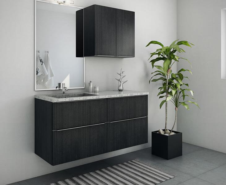 Nettoline badeværelse sort